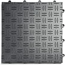 GarageTrac Diamond, Durable Interlocking Modular Garage Flooring Tile (48 Pack), Graphite