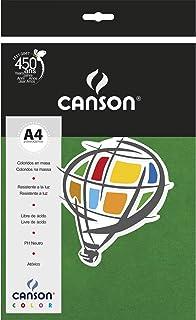 Papel Canson Color Verde Escuro A4 180g/m² com 10 folhas