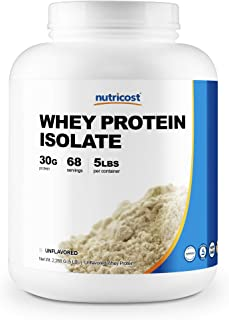 Nutricost Whey Protein Isolate (Unflavored) 5LBS