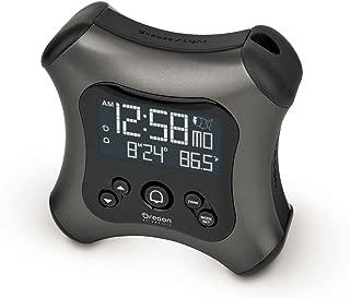 Oregon Scientific RM330P Gray Projection Alarm Clock with Temperature Calendar for Home Office Bedroom
