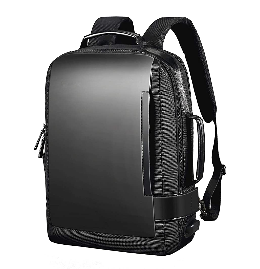 ロック後ろ、背後、背面(部振り子ZenCT リュックサック ビジネスリュック 3way パソコンバッグ マチ拡張機能 カバン メンズ レディース 盗難防止ラップトップ バックパック 防水 USB充電ポート搭載 男女兼用 ブラック CT055