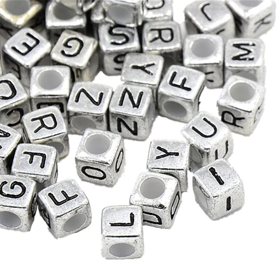 Alphabet Letter Cube G Silver European Bead Charm E1456 1 Bead