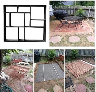 Oulensy DIY pavimentación Cemento Camino de baldosas de Piedra Molde de hormigón trayectoria del jardín del