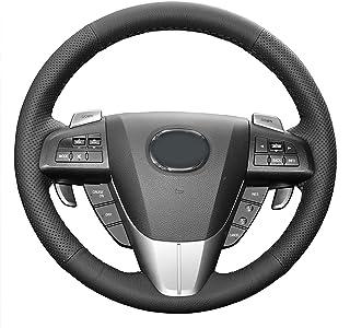 DDNAF Cubiertas de dirección de Coche Cosidas a Mano, para Mazda 3 2011-2015 CX-7 CX-9 Mazda 5 2011-2013 Accesorios de Cub...