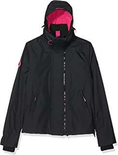Superdry Women's Arctic Hooded POP Zip UP Fleece Lined Multi Pocket SD-Windcheater Jacket