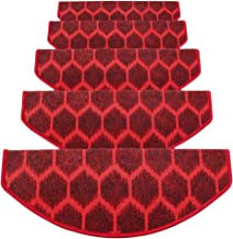 JIAJUAN Semicircle Stair Carpet Treads Durable Non-Slip Protection Pads Home, 6mm, 5 Styles, 4 Sizes, Customize (Color : A...