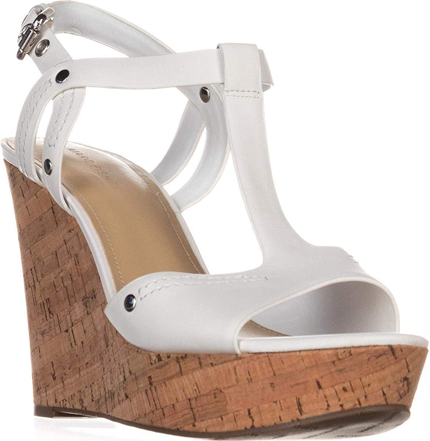 Marc Fisher Womens Helma Leather Open Toe Casual Platform Sandals
