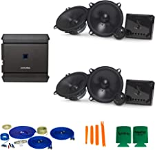 """$559 » CreativeAudio Infinity 2-Pairs of Reference REF5030CX 5.25"""" Component Speakers with Alpine S-A32F 320W 4-Ch Amp and Wiring"""