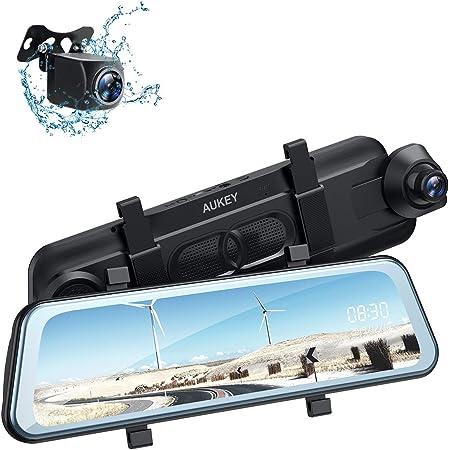 Aukey Dashcam Spiegel 9 66 Zoll Ips Touchscreen 1080p Elektronik