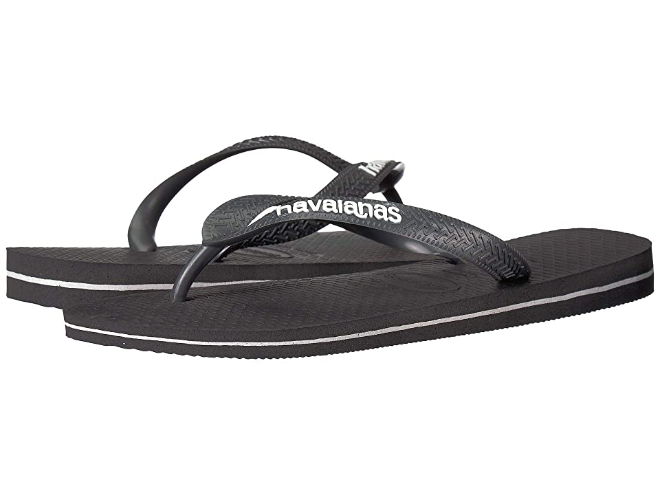 Havaianas Top Logo Filete Sandal (Grey/White) Men
