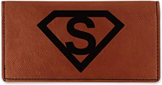 Super Hero Letters Leatherette Checkbook Holder - Single Sided (Personalized)