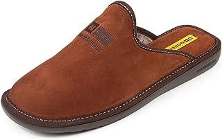 Chaussons en velour marron