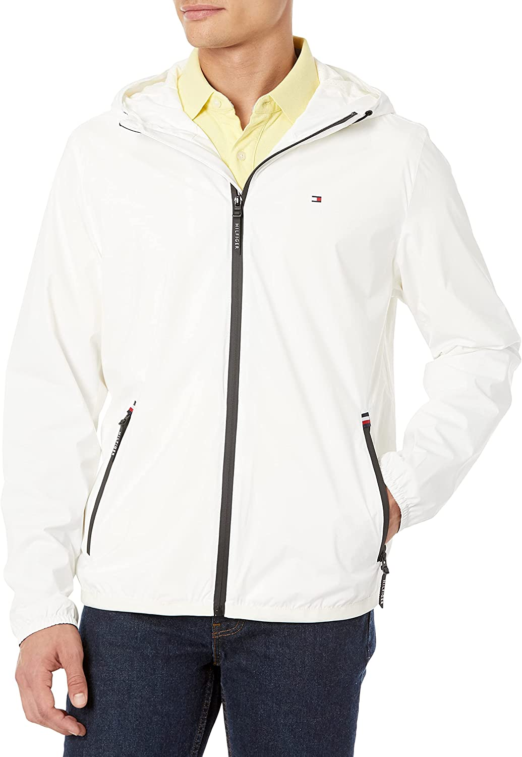 Tommy Hilfiger Men's Lightweight Active Resistant Hooded San Antonio Mall R Water Free Shipping New