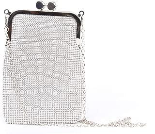 Women's Rhinestone Evening Bag Sparkly Triangle Clutch Crossbody Purse Handbag for Wedding Prom Party