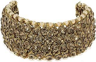 Zaveri Pearls Ethnic Cuff for Women (Golden) (ZPFK7396)