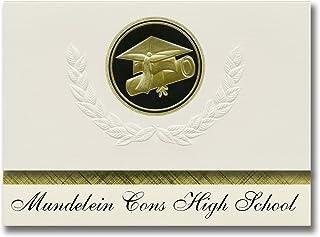 Signature Announcements Mundelein Cons High School (Mundelein, IL) Graduation Announcements, Presidential style, Elite pac...