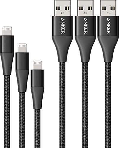 popular Anker Powerline+ II Lightning Cable new arrival 3-Pack (3ft, 6ft, 10ft), MFi Certified for Flawless Compatibility with iPhone online 11/11 Pro / 11 Pro Max/Xs/XS Max/XR/X / 8/8 Plus / 7 and More (Black) outlet online sale
