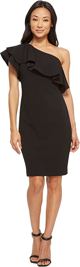 Vince Camuto - One Shoulder Ruffle Bodycon Dress