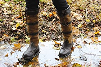 TuffRider Ladies Lexington Waterproof Tall Country Boots   Horse Riding Equestrian Boots   Color - Chocolate/Fawn