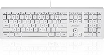 Perixx PERIBOARD-323 Wired Backlit Keyboard - Compatible for Mac OS X - Standard Full Size Keyboard - US English Layout