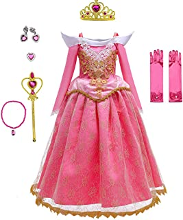 Yalla Baby Girls Dress Costume for Kids Girls Princess Dress Up with Free Accessories - 90-140 cm 3-12 Years Birthday Part...