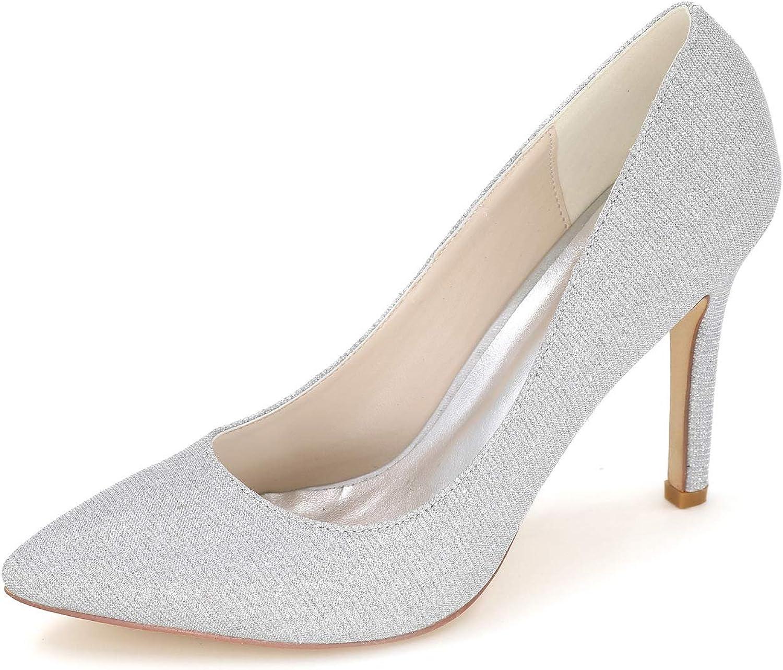 CCBubble Stiletto Heels Bridal shoes for Women Pointed Toe Sequin Women Pumps