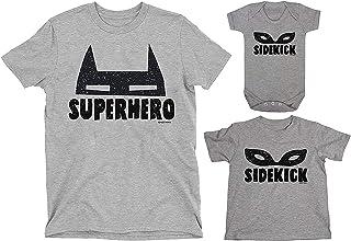 buzz shirts Matching Family T-Shirt Set, Superhero Sidekick Costume Mask, Superhero Family Made from Organic Cotton