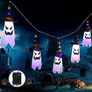 Halloween heksenhoed met lichtsnoer, vakantiedecoratie, Danolt, 3 m, led voor tuin, boom, feest, decoratie
