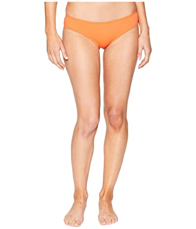 Vince Camuto Shore Shades Shirred Smooth Fit Cheeky Bikini Bottom (Tangerine) Women