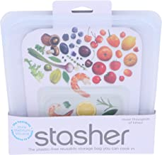 Stasher Clear Silicone 15 Ounce Reusable Bag, Set of 2
