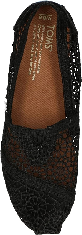 TOMS Damen Alpargata Espadrilles Schwarz Black Moroccan Crochet 000
