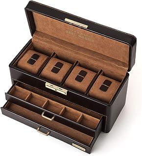 Real Madrid RMJ-80003 Coffret à bijoux de haute qualité pour homme recouvert de cuir Conçu pour 4&nbs...