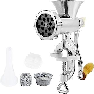 Picadora de carne manual y embutidora de salchichas, manivela de aleación de aluminio para hacer salchichas picadora de ca...