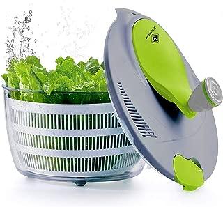 kilokelvin Plastic Kitchen Salad Spinner 4 Liters Quick Vegetables Dryer-BPA Free
