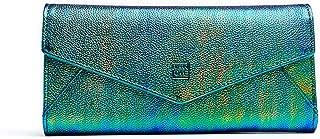 Women Hologram Wallet Purse Long Iridescent Clutch Handbags Zipper Envelop