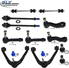 12 Pcs Front Suspension Kit-Upper Control Arm Lower Ball Joint Tie Rod End Sway Bar Idler Arm Pitman Arm-Groove Compatible with Chevrolet Silverado GMC Sierra 1500 Tahoe Yukon Cadillac Escalade