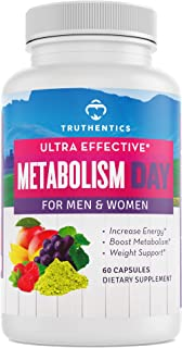 TRUTHENTICS Metabolism & Energy - Natural Aid for Slow Metabolism - Healthy Energy, Weight, Blood Sugar Formula – Supports...