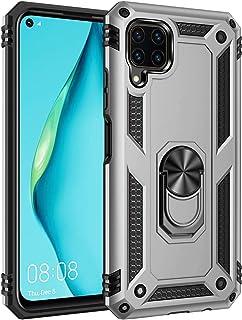 KNY 75848541 Huawei P40 Lite Kılıf Ultra Korumalı Yüzüklü Manyetik Vega Kapak Gri Arka Kapak