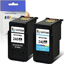 KCYMTONER Remanufactured Ink Cartridge Compatible for Canon PG-240XL 240 XL CL-241XL 241XL Pixma MG3620 MX472 MX452 MG3220 MG3520 MG2220 MX532 MX392 MX432 MX512 Printer (1 Black 1 Tri-Color,2 Pack)