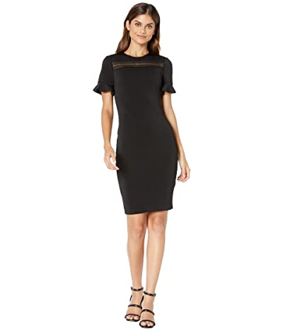Ted Baker Livsia Lace Panel Pencil Dress (Black) Women