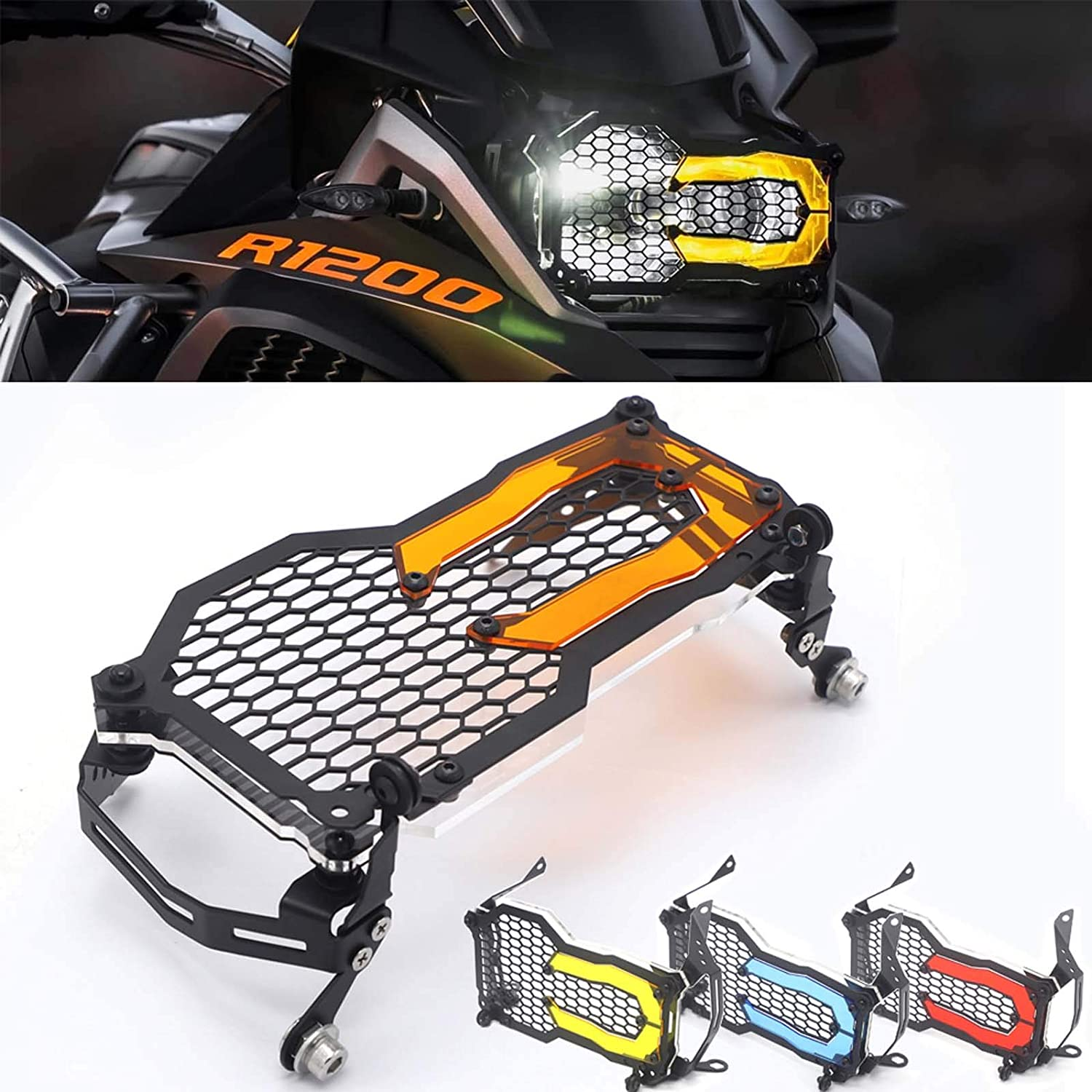 For BMW R1200GS R1250GS Motorcycle Headlight Guard Protector Grille Grill Cover R 1250 GS Adventure R 1200 GS ADV//LC Acrylic Lamp Patch