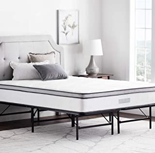 WEEKENDER 14 Inch Folding Platform Bed Frame - Extra Storage Base for All Mattress Types - Twin