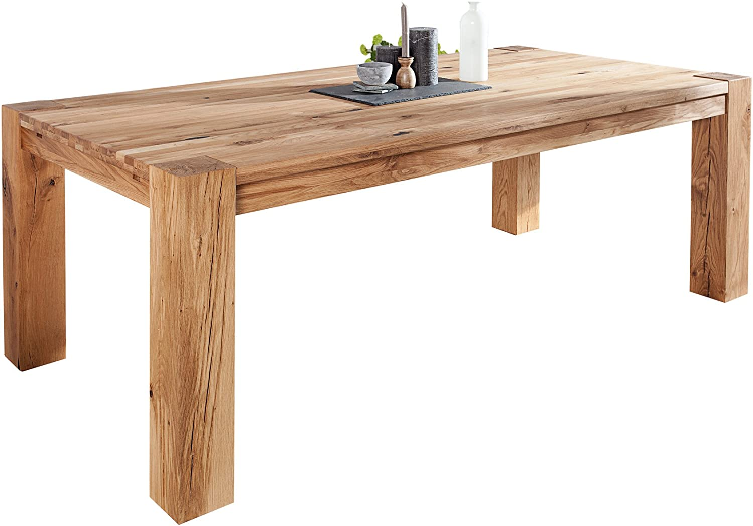 Wooden Solid Wild Oak 9 cm Dining Table Oiled/Made in Europe Solid Wood  Table