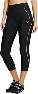 BALEAF Sports Women's Cycling Pants 3D Padded Bike Long Tights Wide Waistband UPF 50+