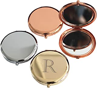 Rose Gold Compact Mirror Travel Pocket Makeup Mirror for Purse