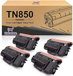 Halofox Compatible Toner Cartridge Replacement for Brother TN850 TN 850 TN-850 HL-L6200DW HL-L6200DWT MFC-L5900DW (Black, 4-Pack)