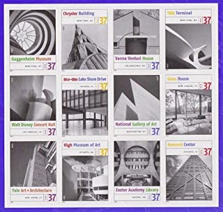 architecture postage stamps