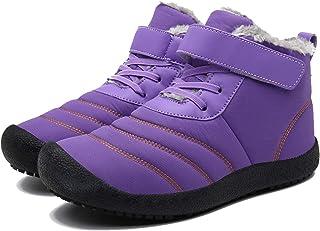 LangfengEU Couple d'hiver Bottes de Neige en Plein air décontracté Chaussures de Marche à Lacets Confortables pour Hommes ...