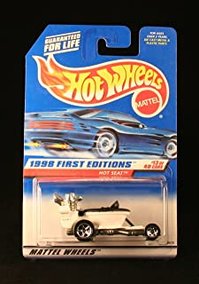 Hot Wheels HOT SEAT WHITE 1998 FIRST EDITIONS SERIES #13 of 40 Basic Car 1:64 Scale Series Collector #648