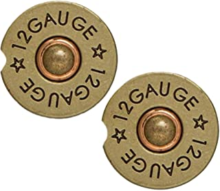 Shotgun Shell 12 Gauge Ceramic Car Coasters, Set of 2, Bullet Car Coaster, Sandstone Car Coaster, Car Coasters for Men, Hunting Coaster